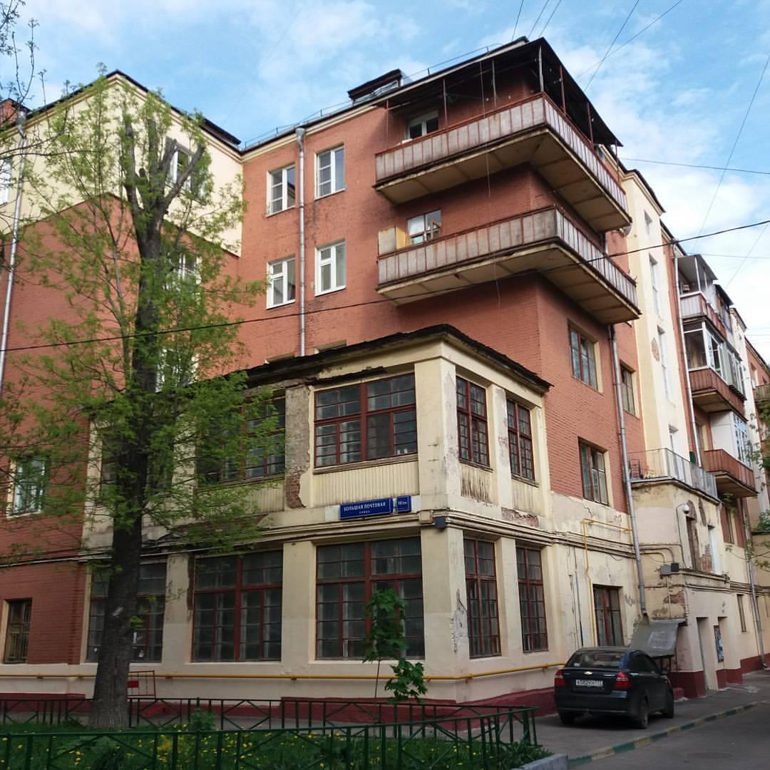 Конструктивистское здание в Москве