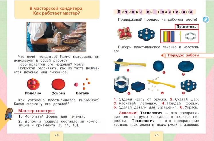 """Разворот учебника """"Технология. 1 класс"""" Е.А. Лутцевой, Т.П. Зуевой"""